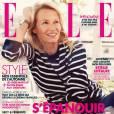 Estelle Lefébure au naturel en couverture de  Elle .