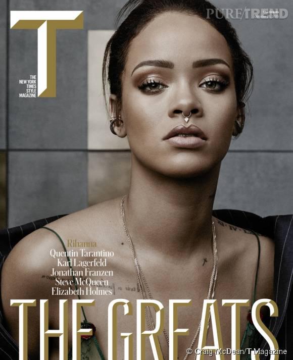 Rihanna fait la couverture de  T Magazine .