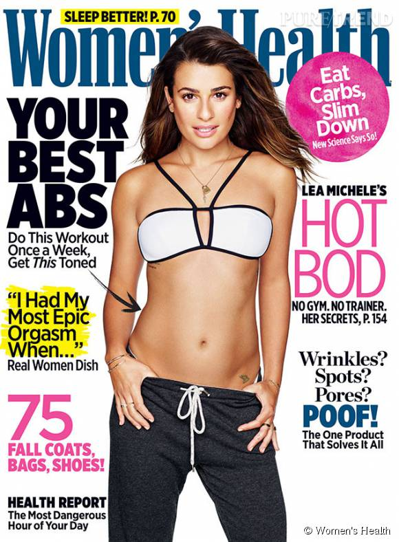 Lea Michele exhibe son corps tonique en couverture de Women's Health.