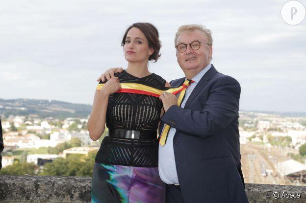 Dominique Besnehard avec Marie Gillain lors du Film du Festival d'Angoulême, en août dernier.