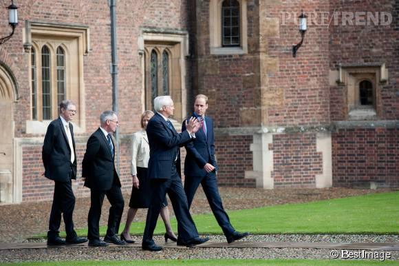 Le prince William lors de sa visite à l'université de Cambridge le 15 octobre 2015.