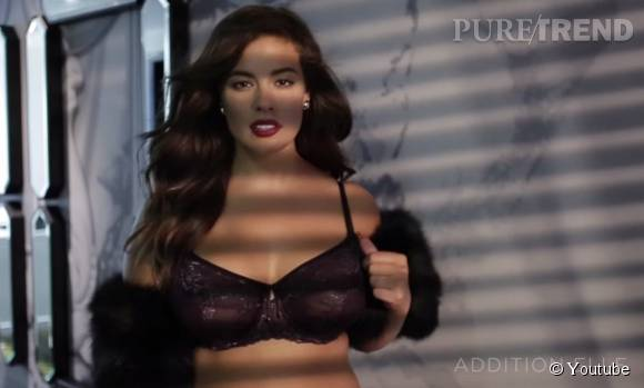 Ashley Graham présente sa collection de dessous chic pour Addition Elle.