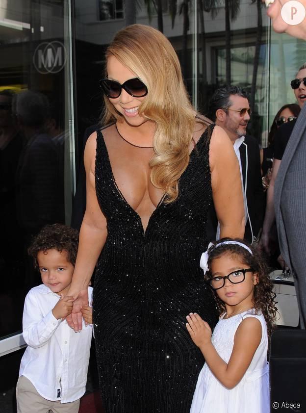 Mariah Carey et ses jumeaux, Monroe et Moroccan.
