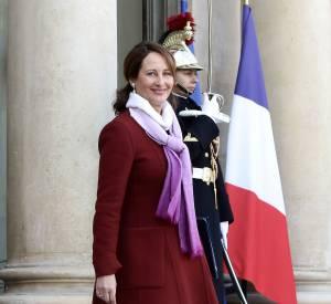 Avec son manteau à la coupe rétro, la ministre de l'écologie fait mouche.