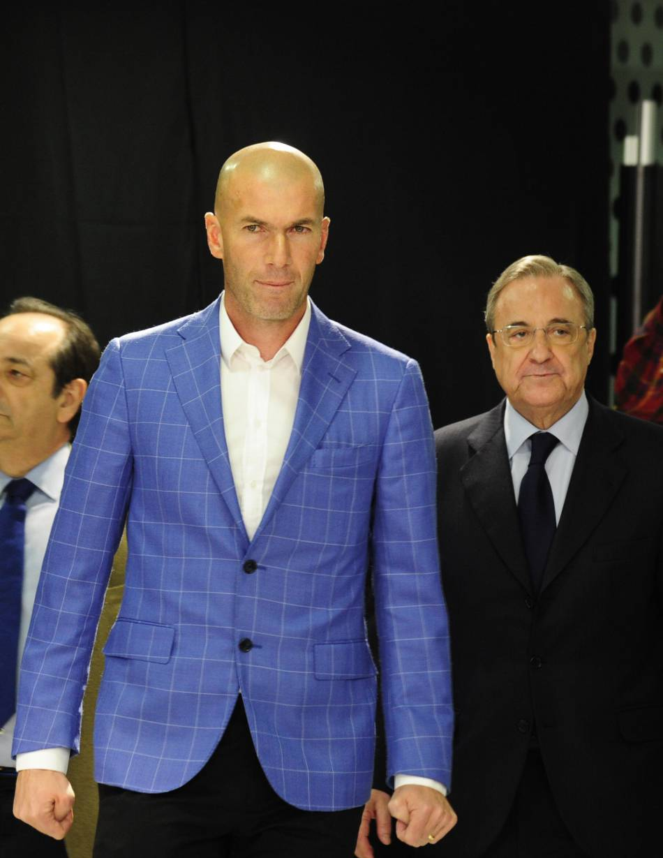 Zinedine Zidane, sportif stylé en toutes circonstances.