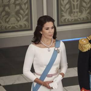 Princesse Mary de Danemark à la cérémonie des voeux organisée le 5 janvier 2016 au château de Christiansborg à Copenhague.