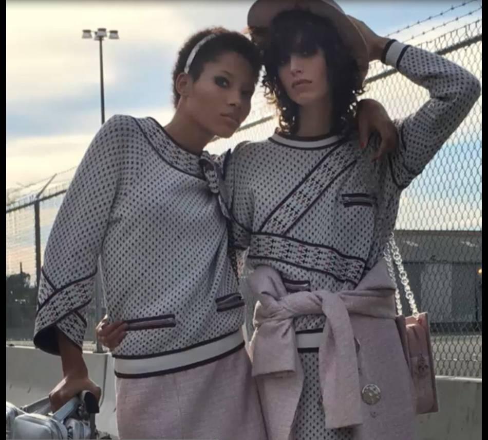 Campagne Chanel Printemps-Été 2016 avec Lineisy Montero et Mica Arganaraz.