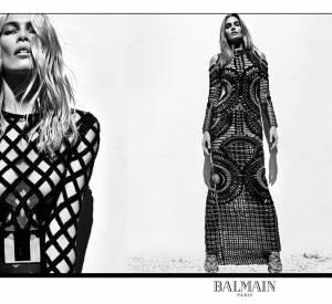 Claudia Schiffer et Cindy Crawford, égéries de la nouvelle campagne du Printemps-Été 2016 de Balmain.