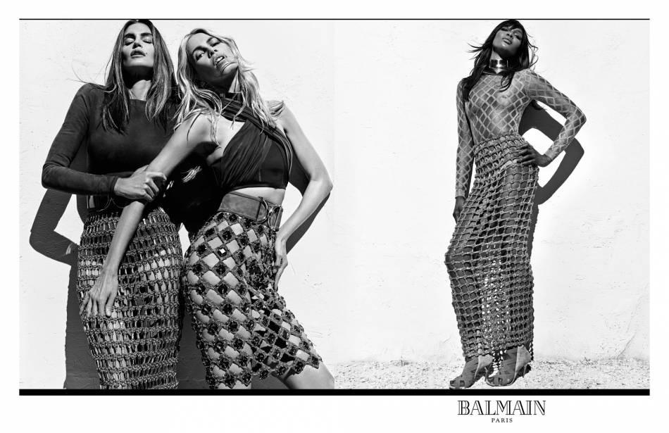 Pour sa campagne du Printemps-Été 2016, Balmain s'offre Claudia Schiffer, Cindy Crawford et Naomi Campbell