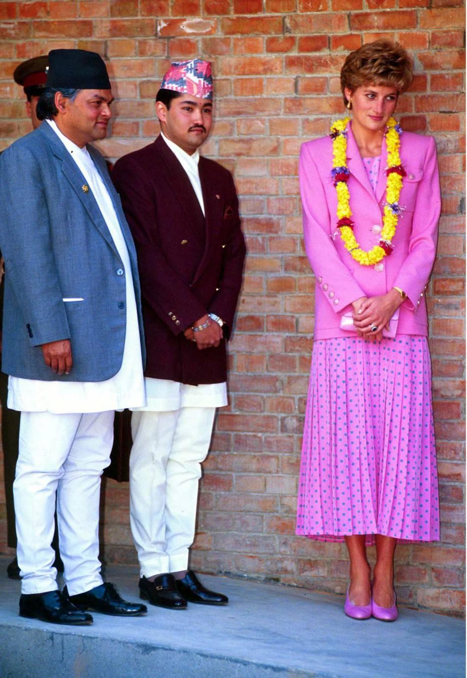 La princesse Diana s'était rendue au Népal en mars 1993.