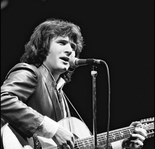 Daniel Balavoine sur la scène de l'Olympia en 1980.