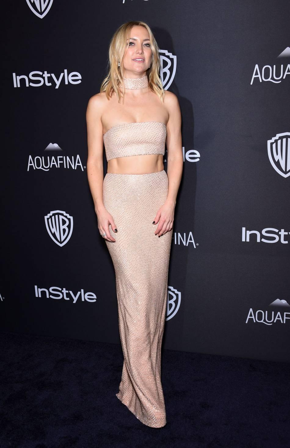 Kate Hudson à la soirée du magazine  InStyle , ce dimanche 10 janvier 2016.