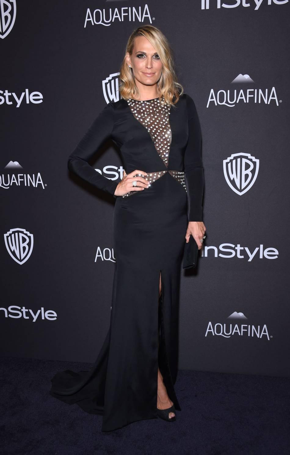 Molly Sims à la soirée du magazine  InStyle , ce dimanche 10 janvier 2016.