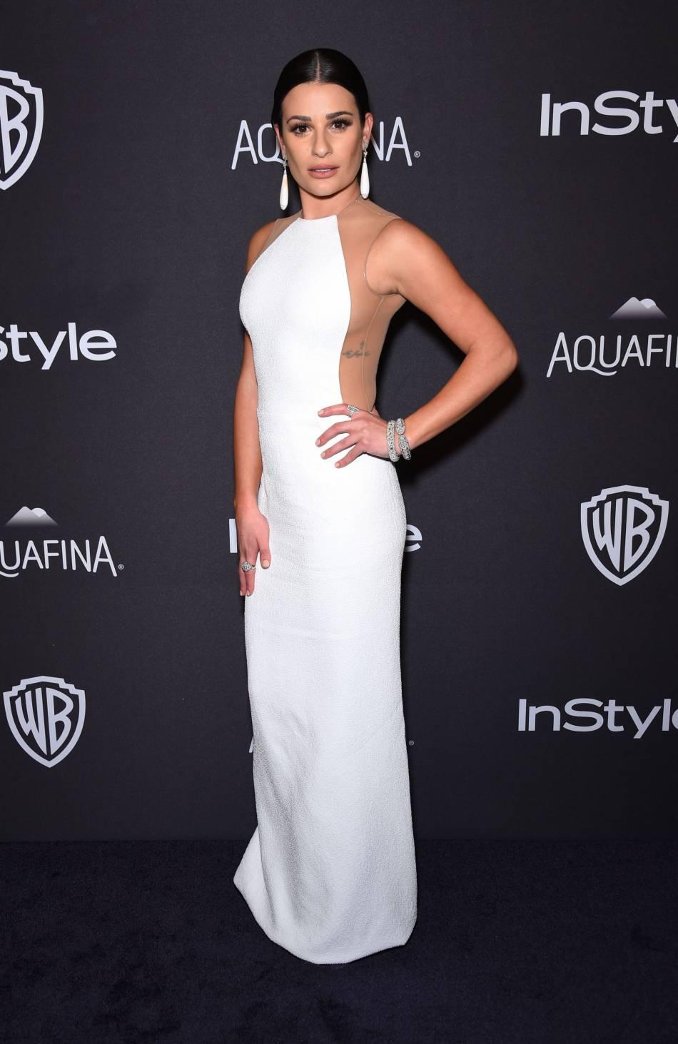 Lea Michele à la soirée du magazine  InStyle , ce dimanche 10 janvier 2016.