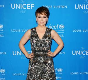 Alyssa Milano lors de l'UNICEF Ball honorant David Beckham le 12 janvier 2016 à Los Angeles.