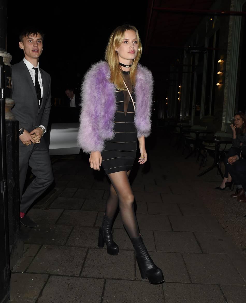 Georgia May Jagger a organisé un dîner entre amis le 12 janvier 2016 au restaurant Sexy Fish de Londres pour fêter son anniversaire.