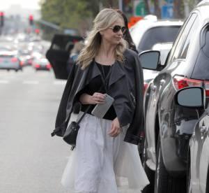 Sarah Michelle Gellar : le look rock'n'roll en jupe en tulle... A shopper !