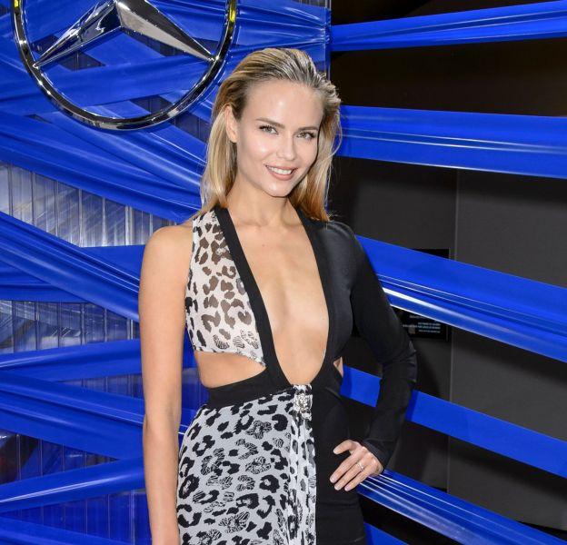 Natasha Poly, beauté incendiaire à la Mercedes Benz Fashion Week de Berlin, jeudi 21 janvier.