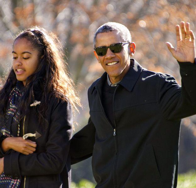 Barack Obama, un vrai papa poule avec ses filles.