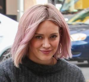 Hilary Duff : après les cheveux verts, elle passe au rose !