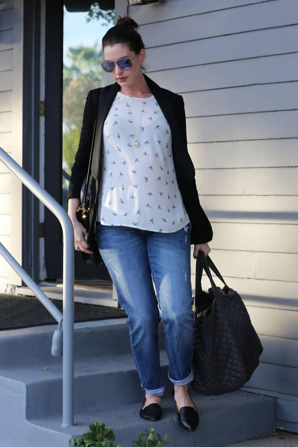 Anne Hathaway, le 22 janvier 2016 à Los Angeles.