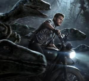 """Omar Sy est à l'affiche de """"Jurassic World"""" en compagnie de Chris Pratt et quelques dinosaures."""