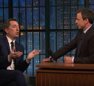 "Gad Elmaleh dans ""Late night with Seth Meyers""."
