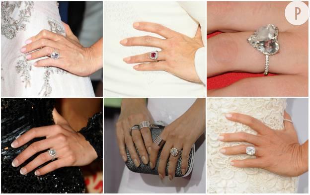 Les stars exposent leurs bagues de fiançailles sur Instagram.