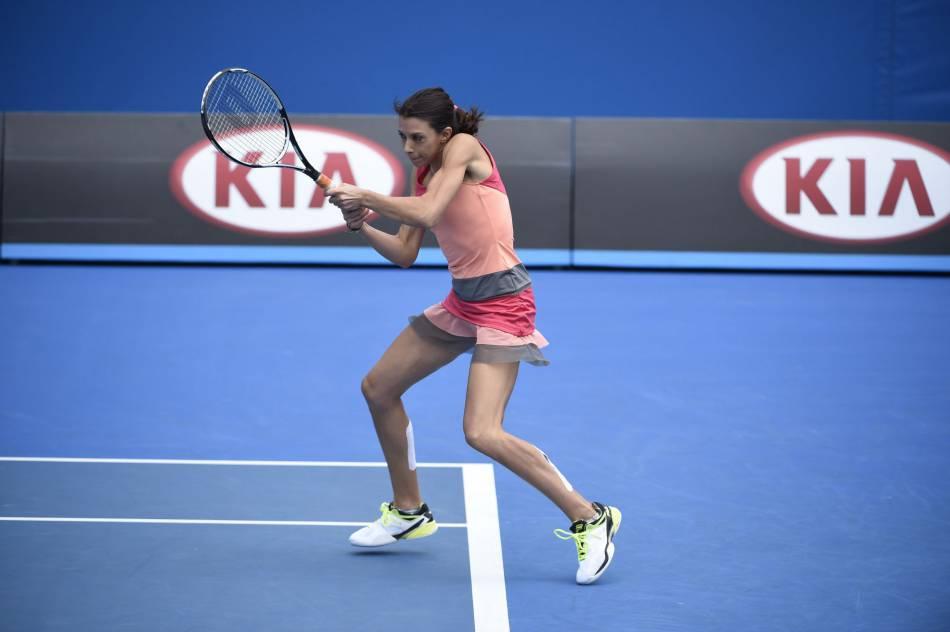 Elle a également disputé un match d'exhibition lors de l'Open d'Australie.