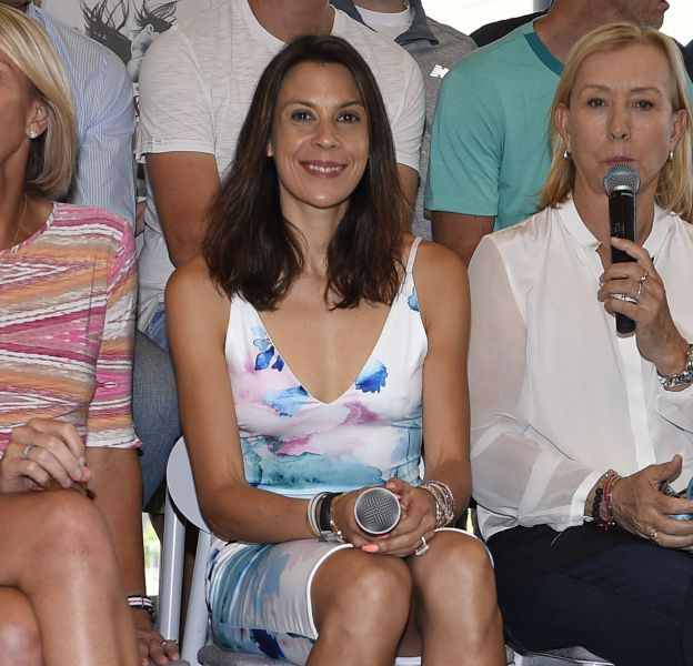 Marion Bartoli en conférence de presse lors de l'Open d'Australie le 27 janvier 2016.
