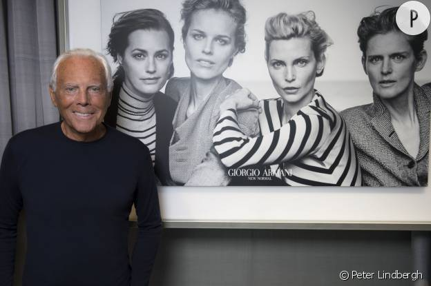 """Nadja Auermann, d'Yasmin Le Bon, de Stella Tennant et d'Eva Herzigova, les """"quatre femmes iconiques"""" de Giorgio Armani pour sa campagne du Printemps-Eté 2016."""