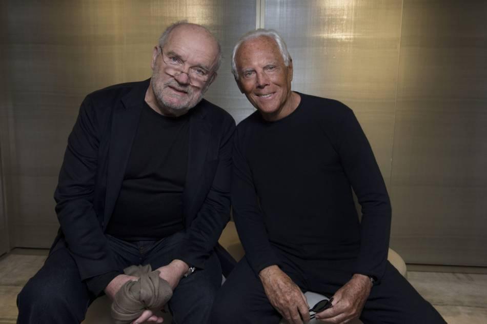 Giorgio Armani et le photographe Peter Lindbergh.