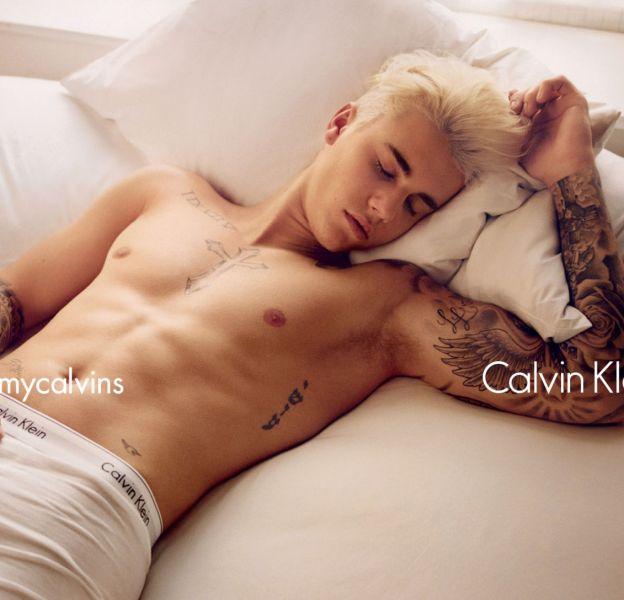 Justin Bieberpose pour la campagne Printemps-Été 2016 de Calvin Klein.