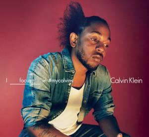 Kendrick Lamar pose pour la campagne Printemps-Été 2016 de Calvin Klein.