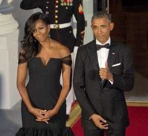 """Les bras fins et musclés de Michelle Obama ? Le résultat de ses entraînements sur le """"Megaformer"""", la machine développée par Sebastien Lagree."""