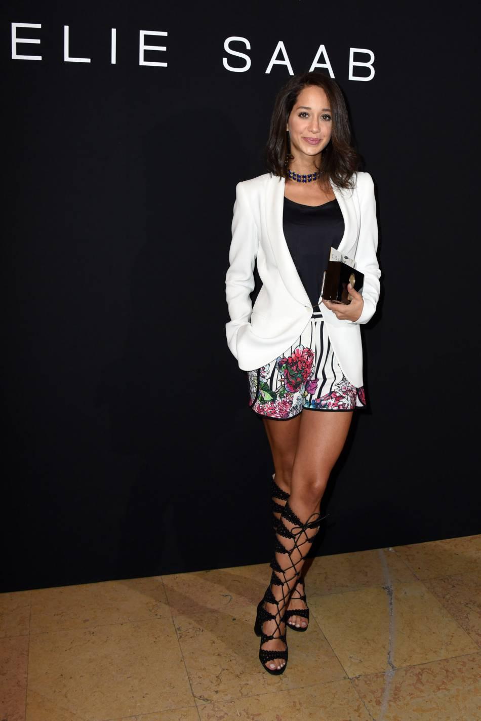 Lana El Sahely au défilé Haute Couture Printemps-Été 2016 Elie Saab.