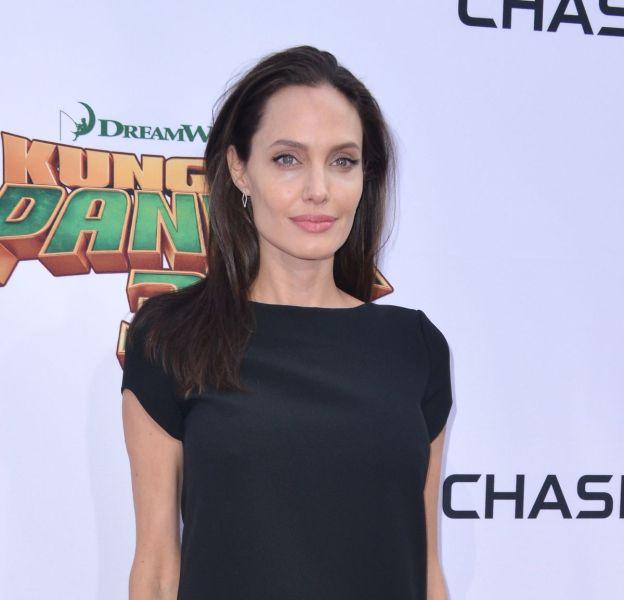"""La frêle silhouette d'Angelina Jolie lors du photocall du film """"Kung Fu Panda 3"""" le 17 janvier 2016 avait beaucoup fait parler."""