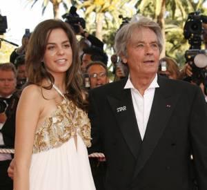 Anouchka Delonet son père Alain Delon au Festival de Cannes de 2007.