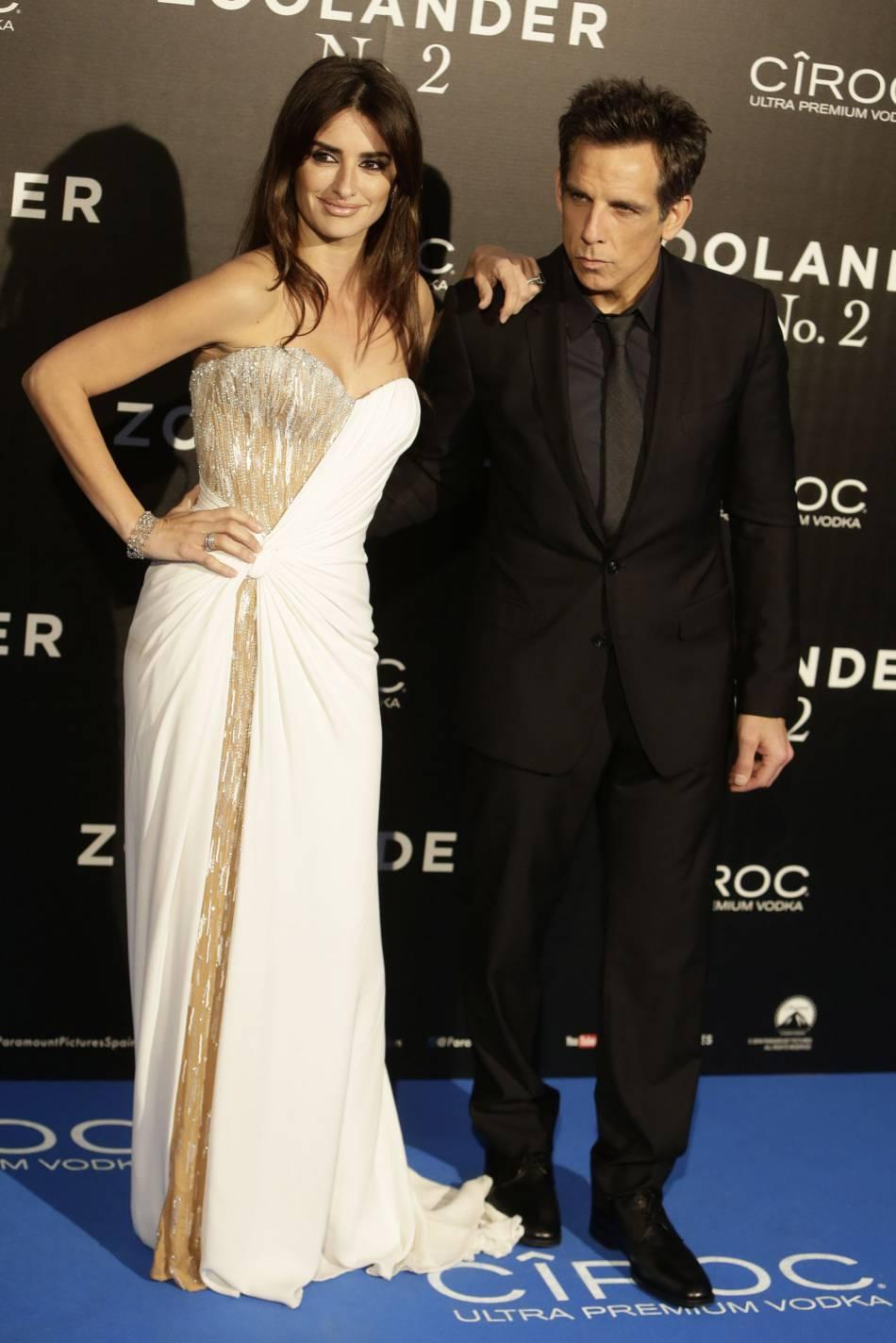 """Penélope Cruz aux côtés de Ben Stiller pour la première du film """"Zoolander 2""""."""