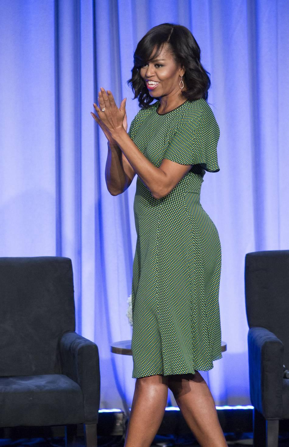 Michelle Obama affiche une silhouette de rêve. A 52 ans, elle en fait facilement dix de moins.