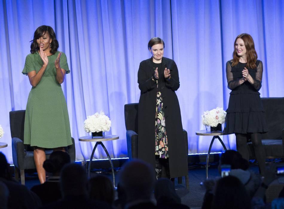 Michelle Obama, Lena Dunham et Julianne Moore ont débattu sur l'importance de l'éducation des jeunes filles partout dans le monde et du rôle que peuvent jour les médias dans cette cause.