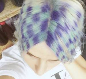 Coloration : après les Rainbow Roots place aux Checkerboard Hair