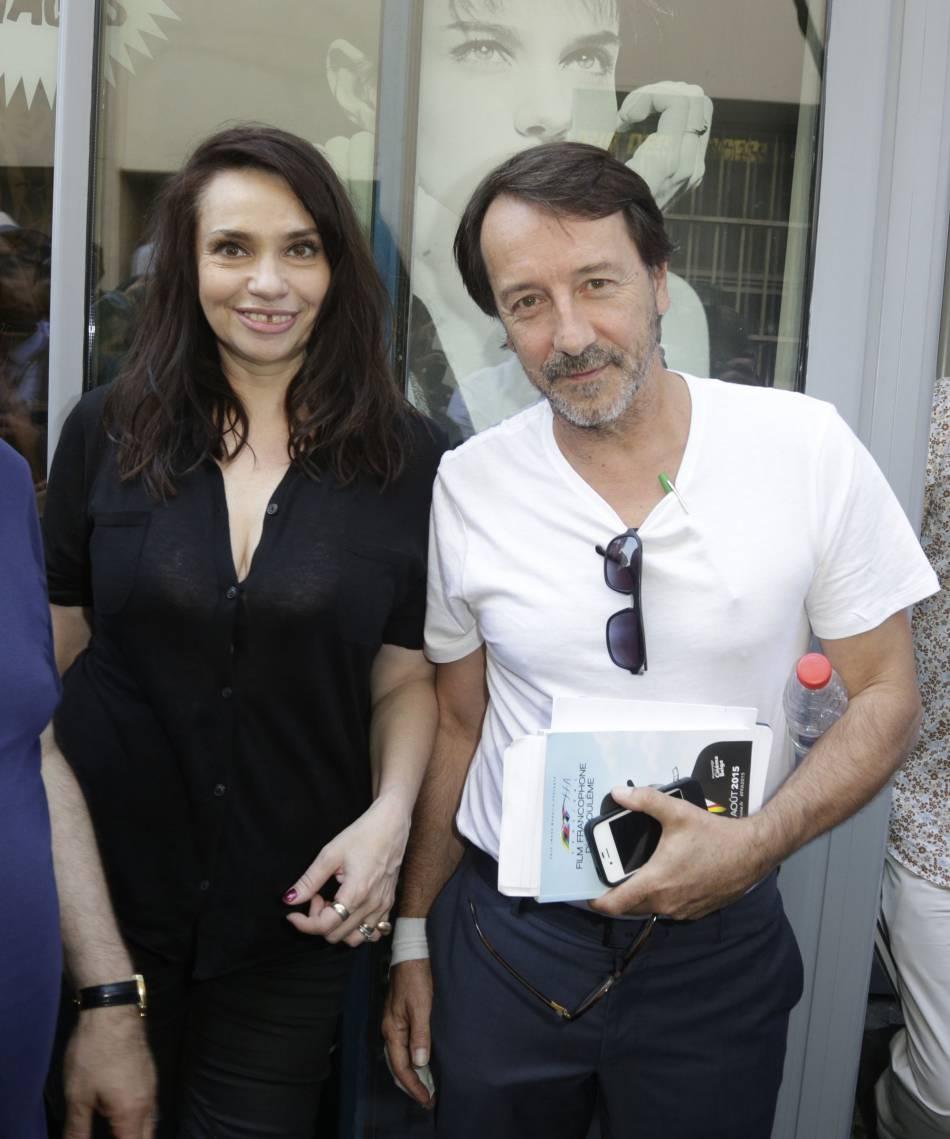 """Béatrice Dalle et Jean-Hughe Anglade, le fameux duo de """"37°2 le matin""""."""