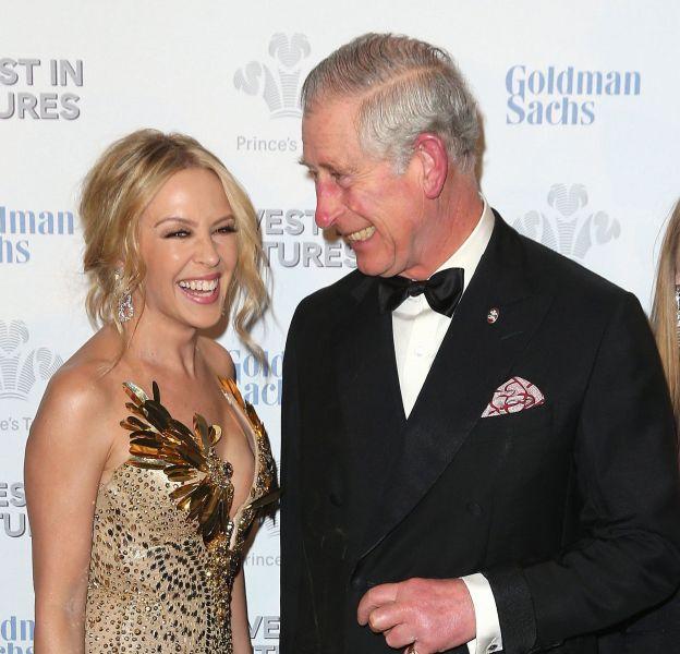 Kylie Minogue et le prince Charles lors du dîner de galaPrince's Trust Invest in Futures à LOndres le 4 février 2016.