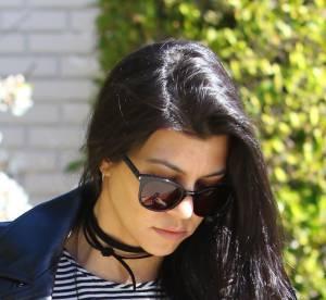 Kourtney Kardashian : veste rock pour maman poule