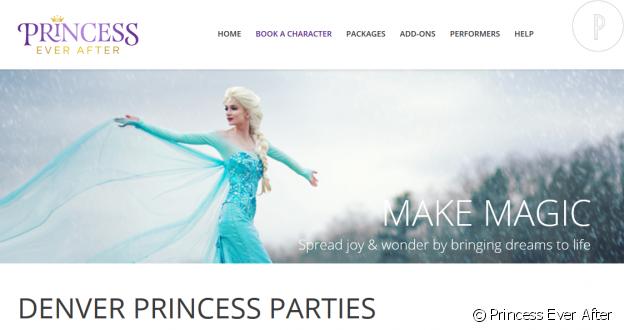 Sarah Ingle et son petit-ami ont lancé Princess Ever After, une société qui permet d'engager une princesse le temps d'un goûter d'anniversaire ou d'une soirée.