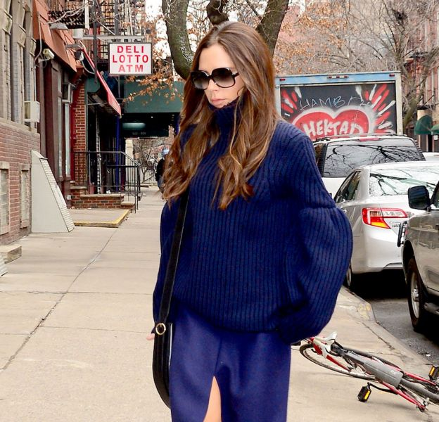 Victoria Beckham dans le quartier de Soho à New York ce mardi 9 février 2016.