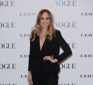 """Suki Waterhouse au vernissage de l'exposition """"Vogue 100 : un siècle de style"""" à la National Portrait Gallery de Londres, ce mardi 9 février 2016."""