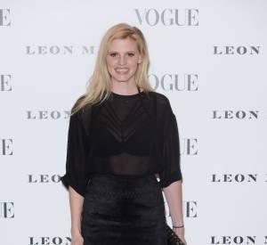 """Lara Stone au vernissage de l'exposition """"Vogue 100 : un siècle de style"""" à la National Portrait Gallery de Londres, ce mardi 9 février 2016."""