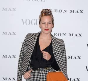 """Charlotte Dellal au vernissage de l'exposition """"Vogue 100 : un siècle de style"""" à la National Portrait Gallery de Londres, ce mardi 9 février 2016."""